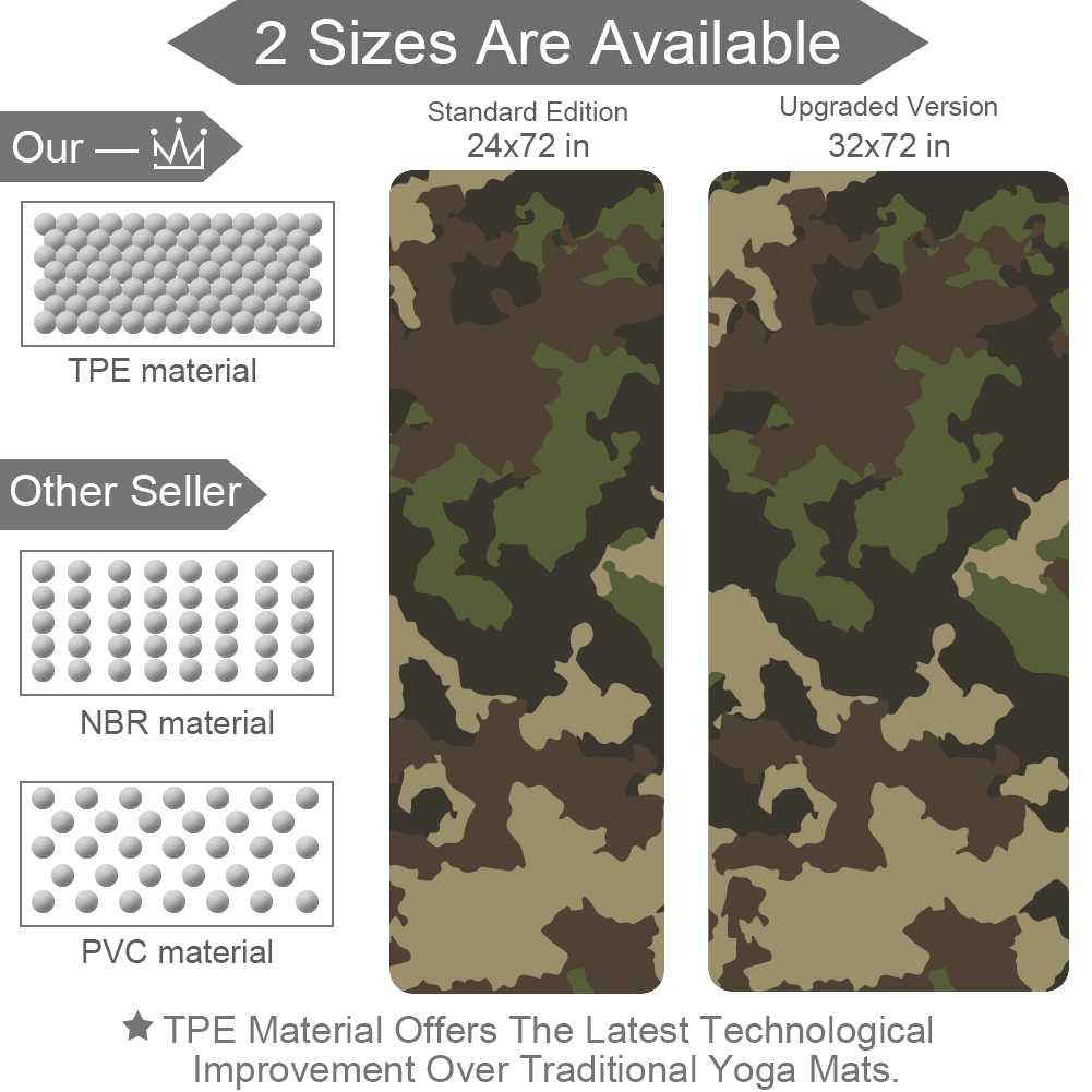 Exercise Camouflage Gym Mat with Strap Hot - Lorvies