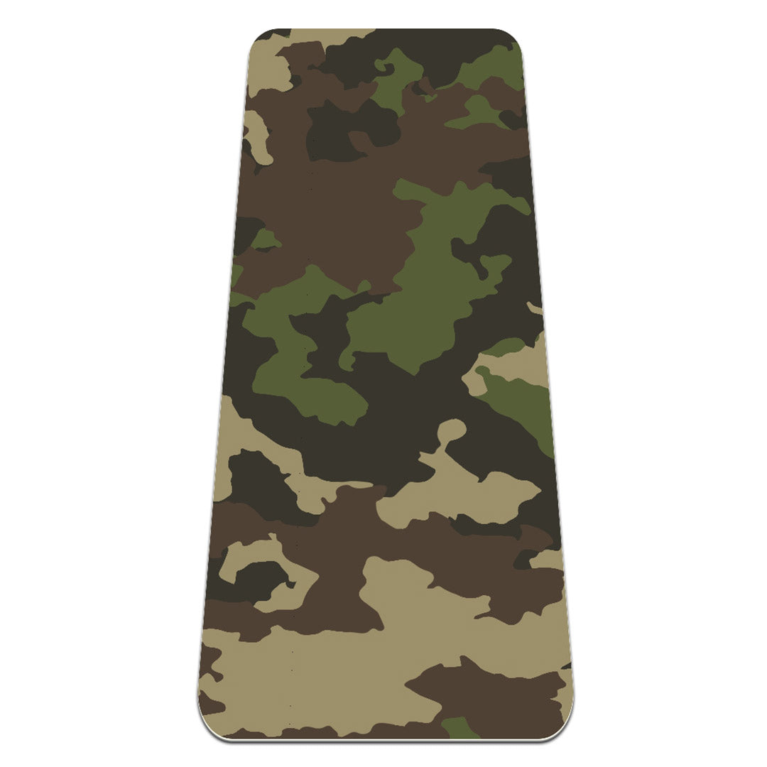 Eco Friendly Exercise Camouflage Gym Mat with Strap Hot - Lorvies