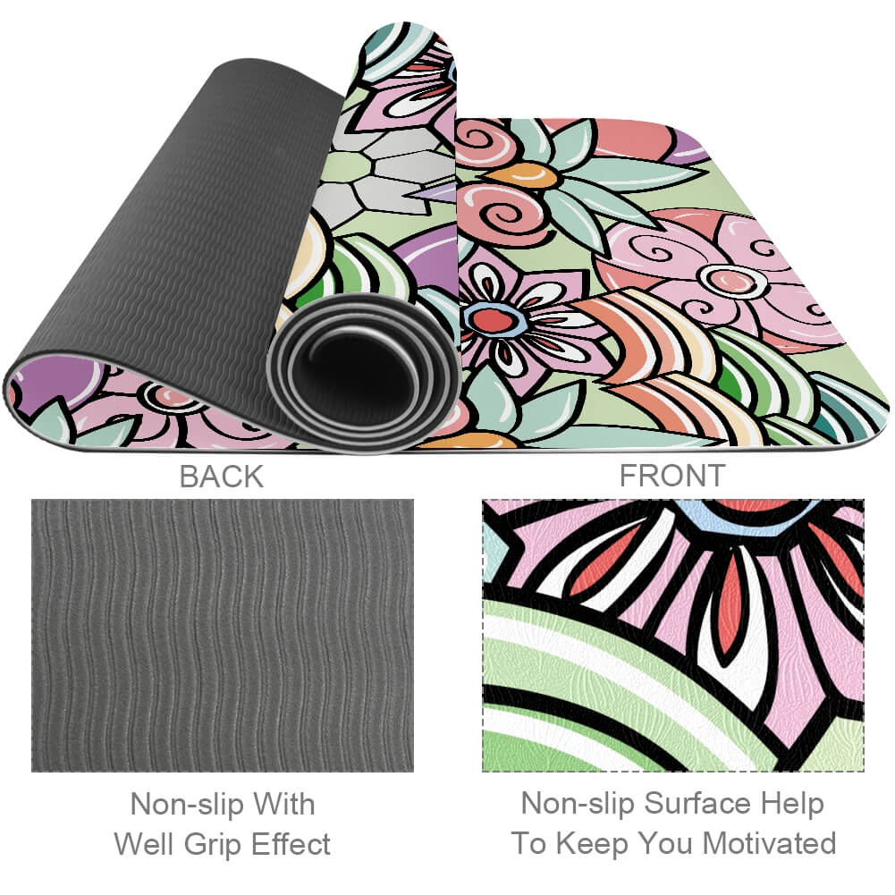 Colorful Floral Yoga Mat
