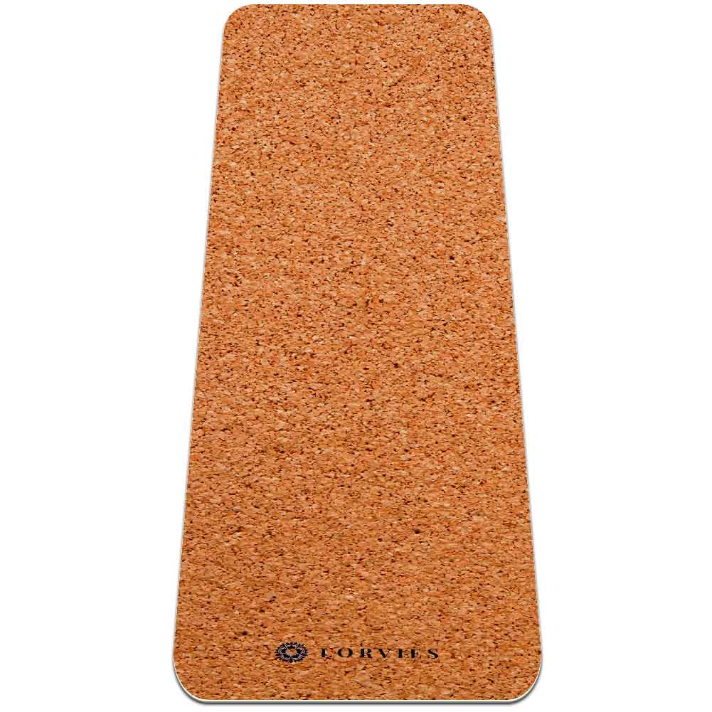 Cork Texture Yoga Mat with Strap Non Slip TPE Workout - Lorvies
