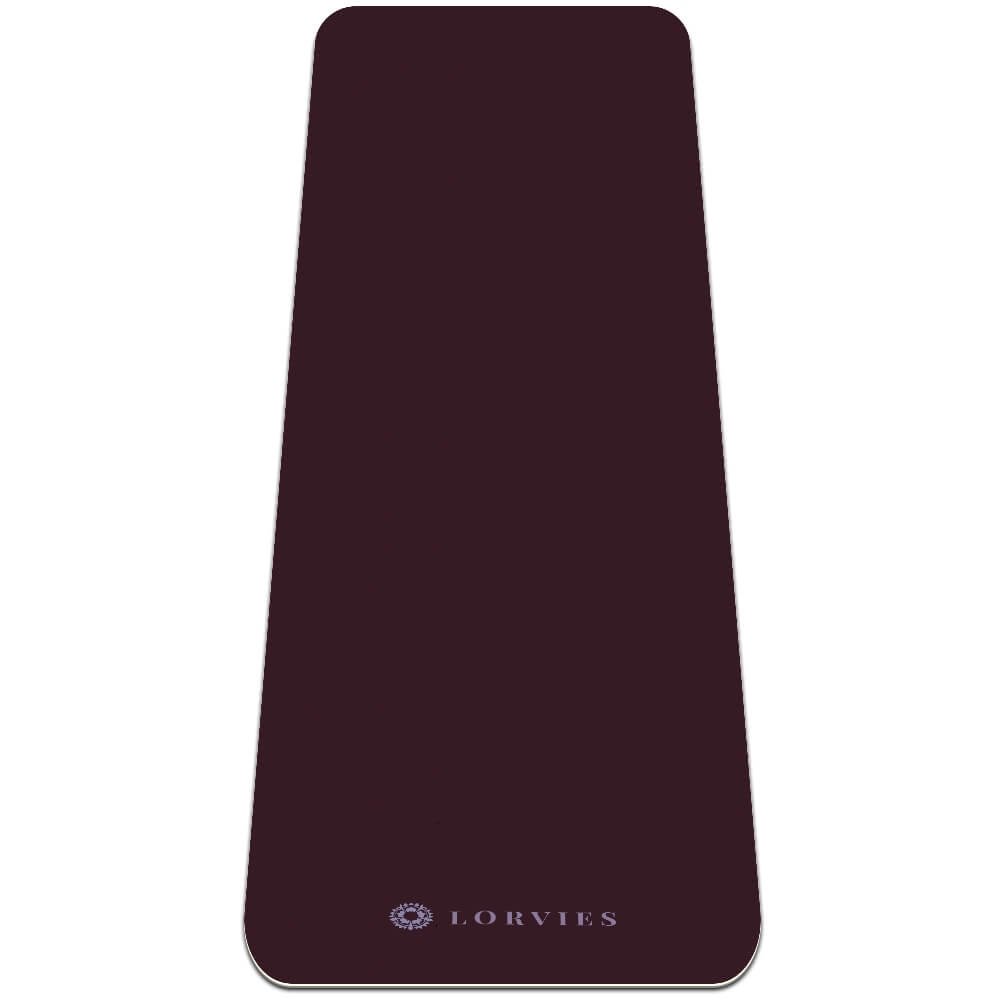 Dark Red Yoga Mat Workout Gym Fitness Eco Friendly Best - Lorvies