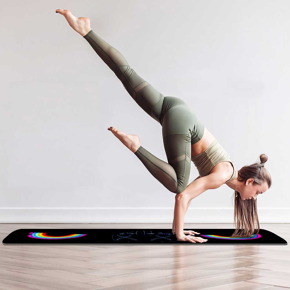 Darkness Rainbow Yoga Mat  Eco Friendly Fitness - Lorvies