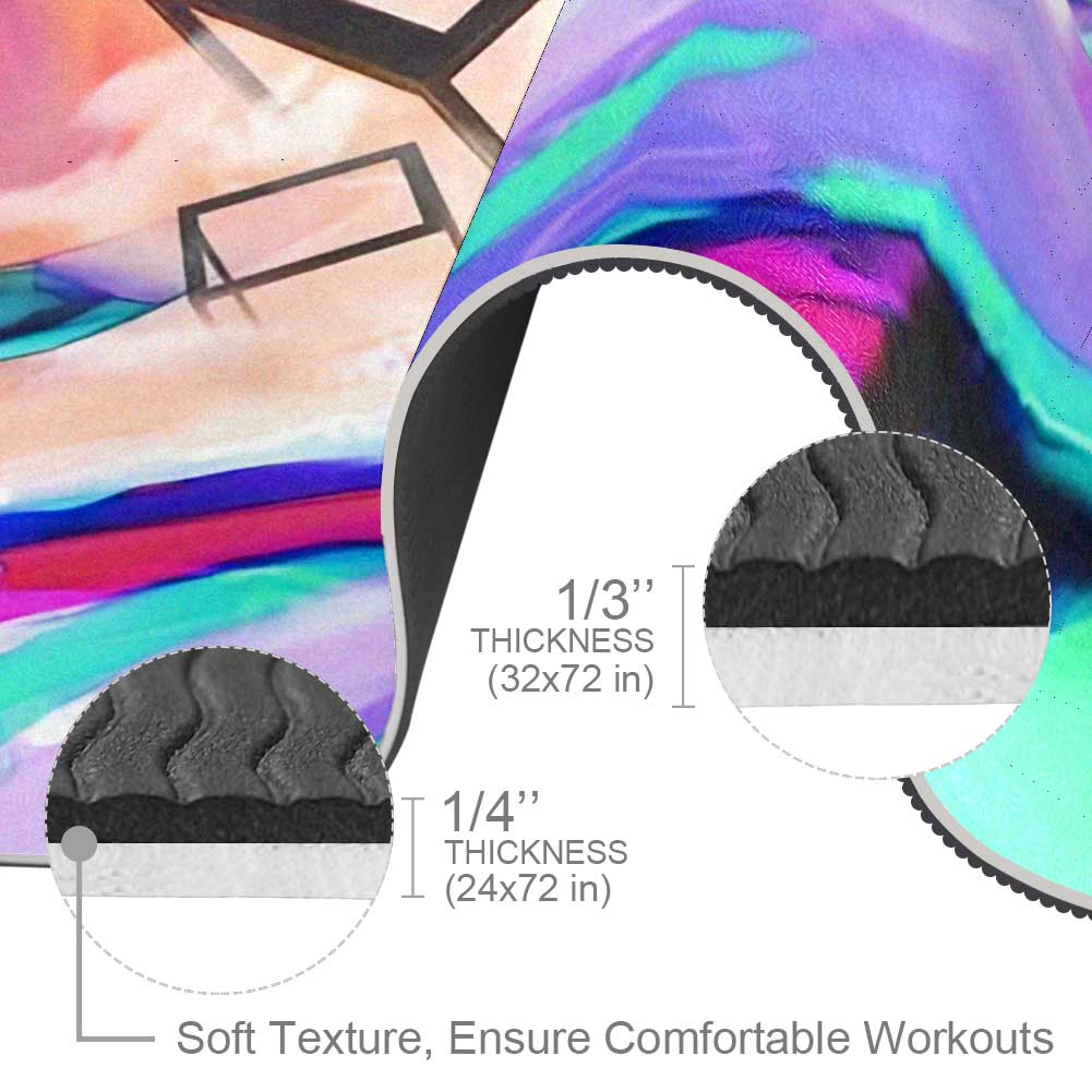Drifting Cubes Abstract Yoga Mat Exercise Fitness - Lorvies