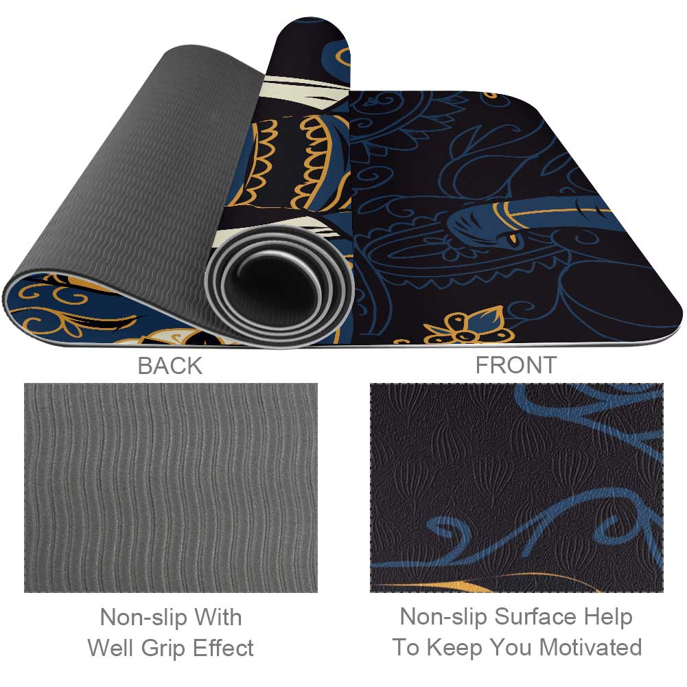 Affordable Indian Elephant Yoga Mat Best - Lorvies