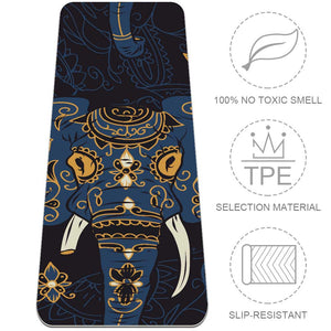 Affordable Indian Elephant Yoga Mat Workout Fitness Best - Lorvies