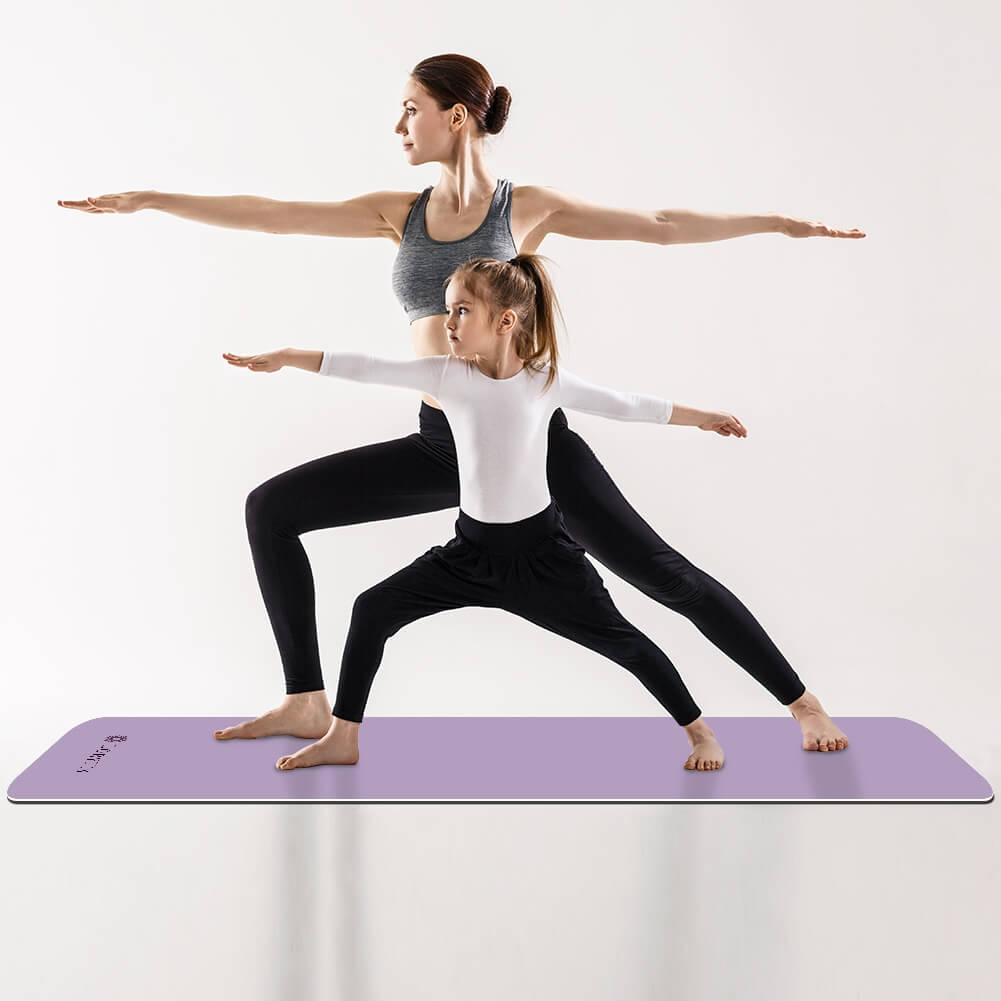 Lilac Yoga Mat Exercise Fitness Eco Friendly - Lorvies