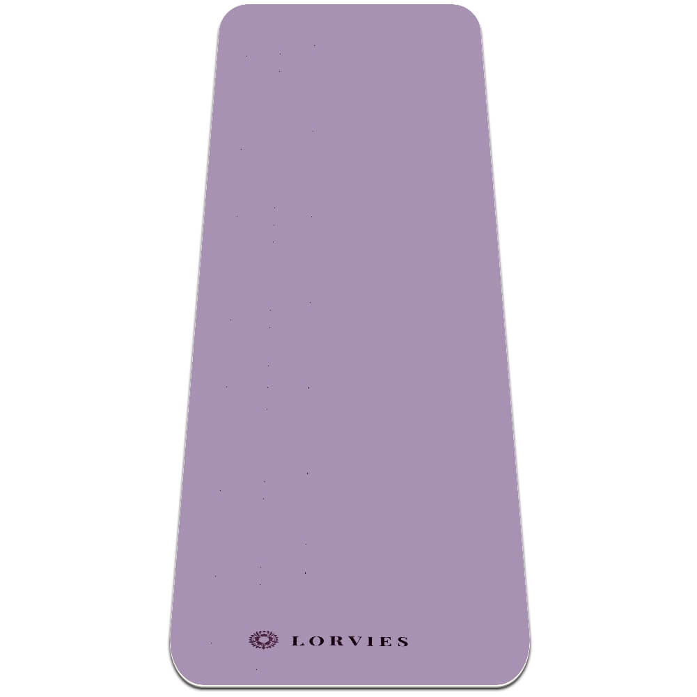Lilac Yoga Mat Exercise Non Slip Fitness with Strap Eco - Lorvies