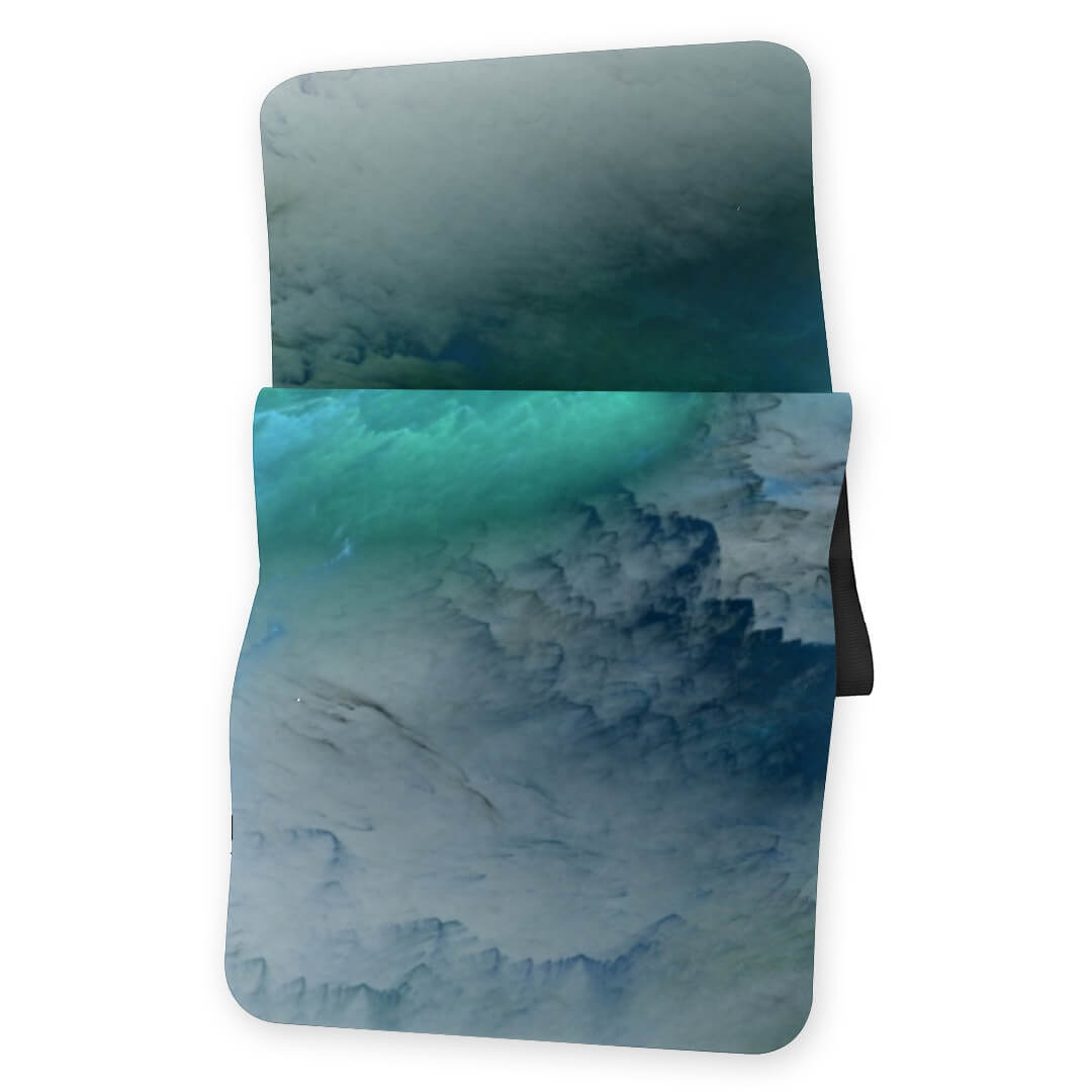 Lorvies Abstract Artistic Blue Cloud Green White Yoga Mat