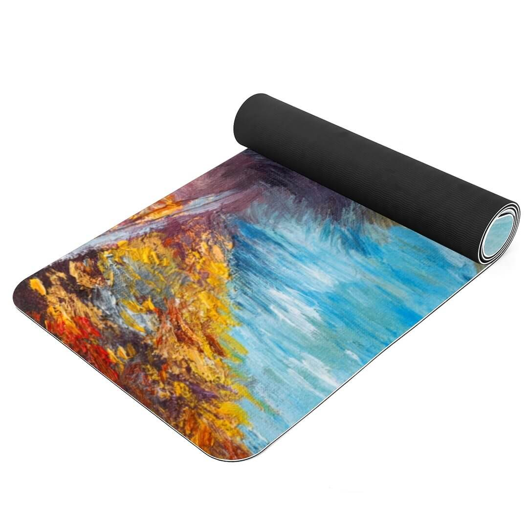 Lorvies Art Paint Paris Eiffel Tower Print Thickest Yoga Mat