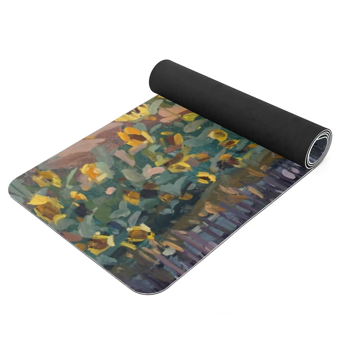 Lorvies Art Sunflower Oil Painting Best Thickest Yoga Mat