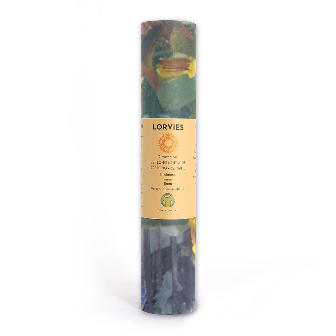 Lorvies Art Sunflower Oil Painting Yoga Mat Gym Fitness