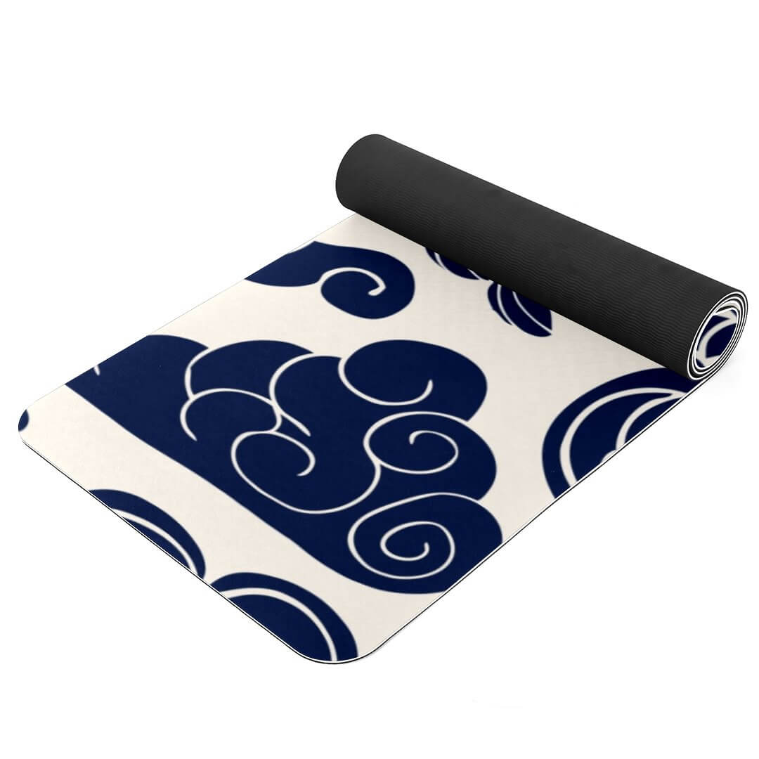 Lorvies Blue Cloud Yoga Mat Best Grip