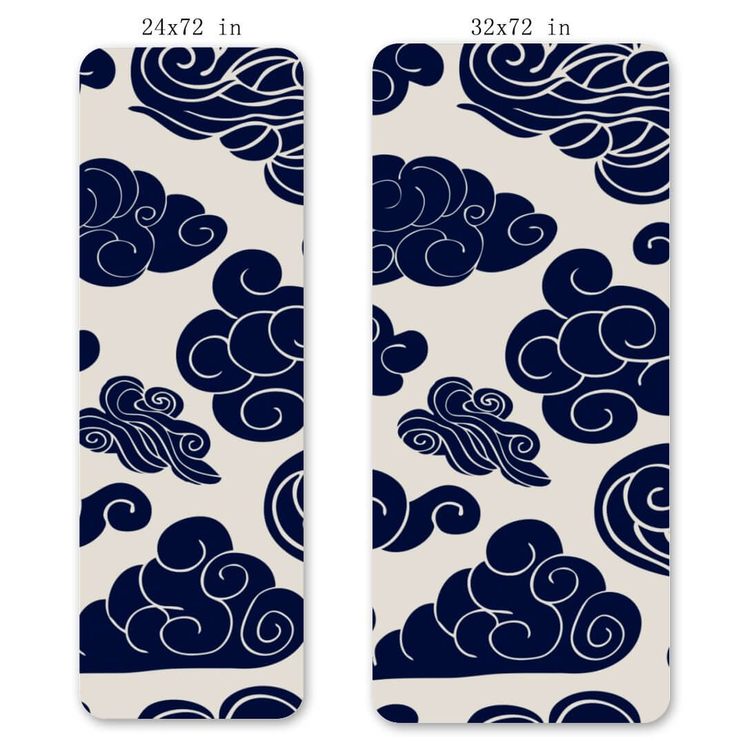 Lorvies Blue Cloud Yoga Matte Exercise Mat