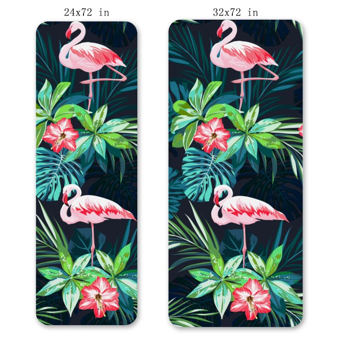 Lorvies Flamingo Flower Eco Friendly Yoga Mat Great Cushion