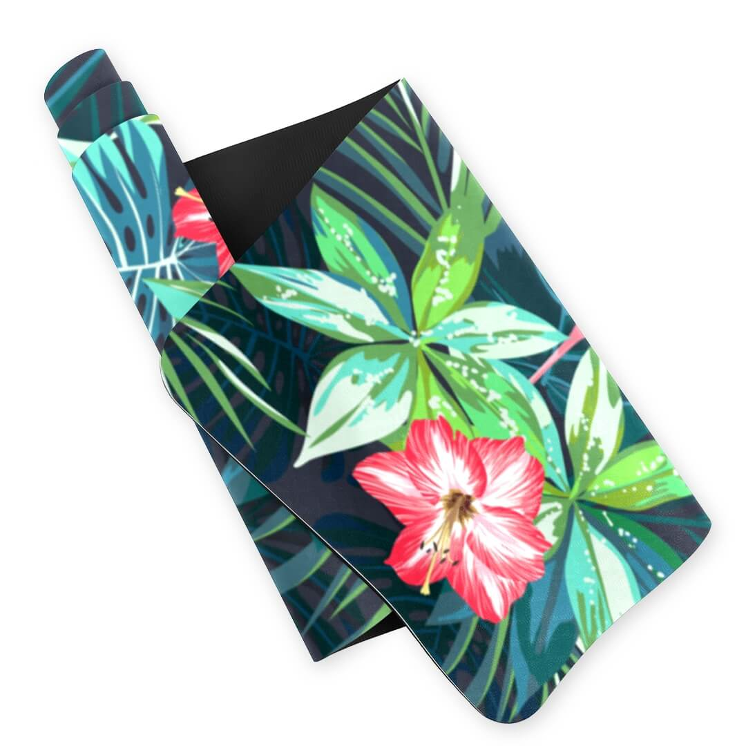 Lorvies Flamingo Flower Printed Yoga Mat