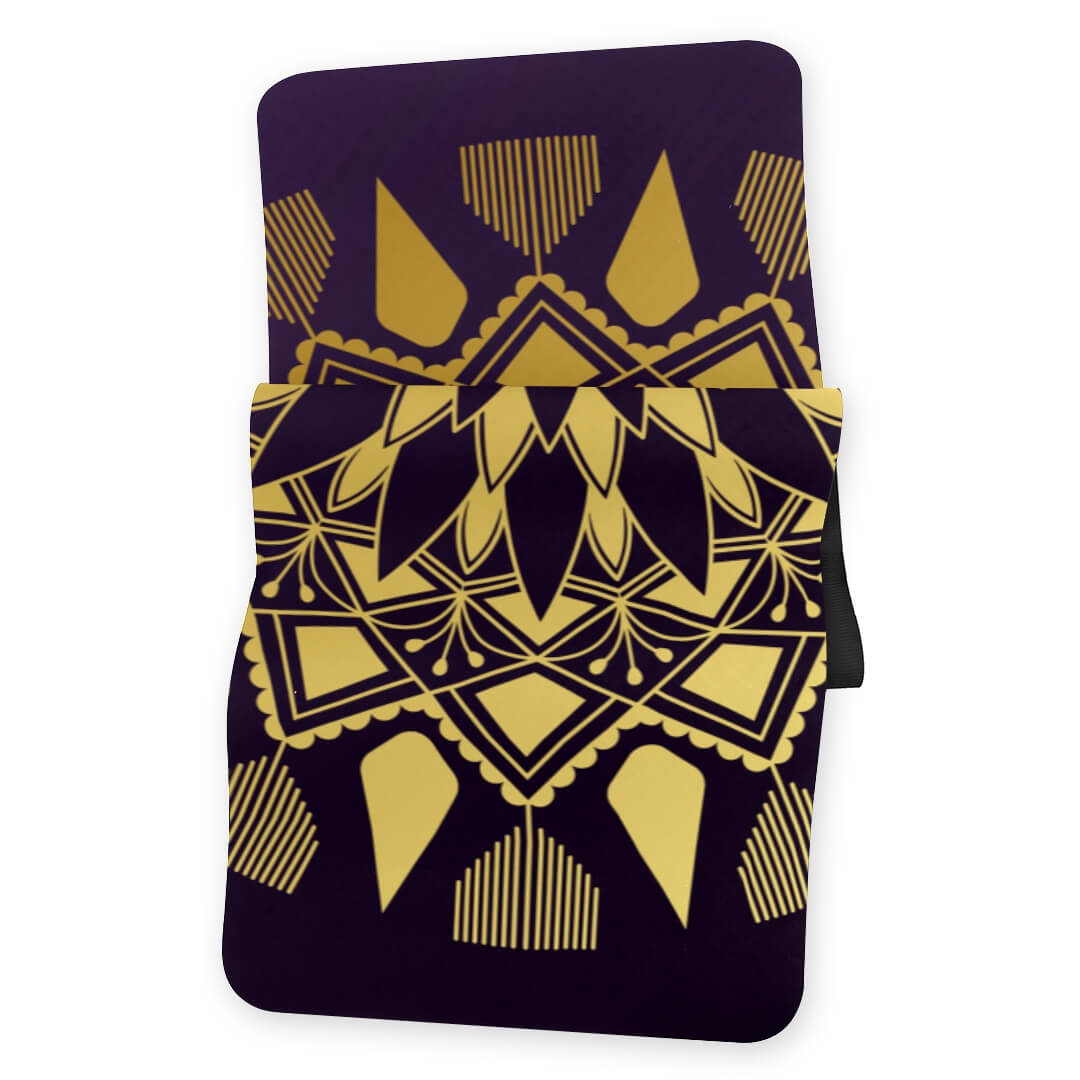 Lorvies Golden Mandala Badge Yoga Mat