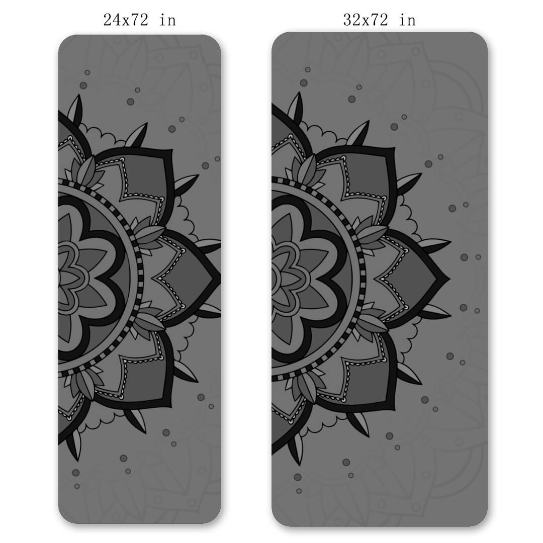 Lorvies Gray Mandala Printed Best Yoga Mat Online