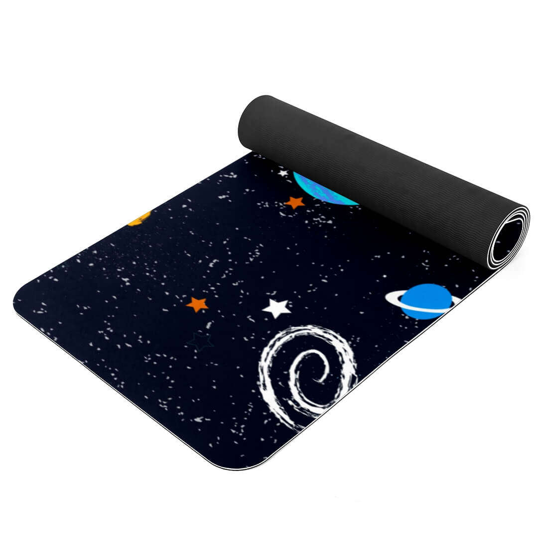 Lorvies Outer Space Pattern Gym Mat for Yoga Beginners