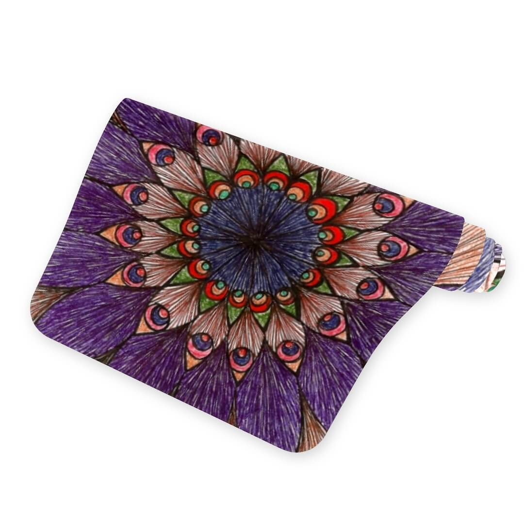 Lorvies Peacock Color Mandala Thick Yoga Mat