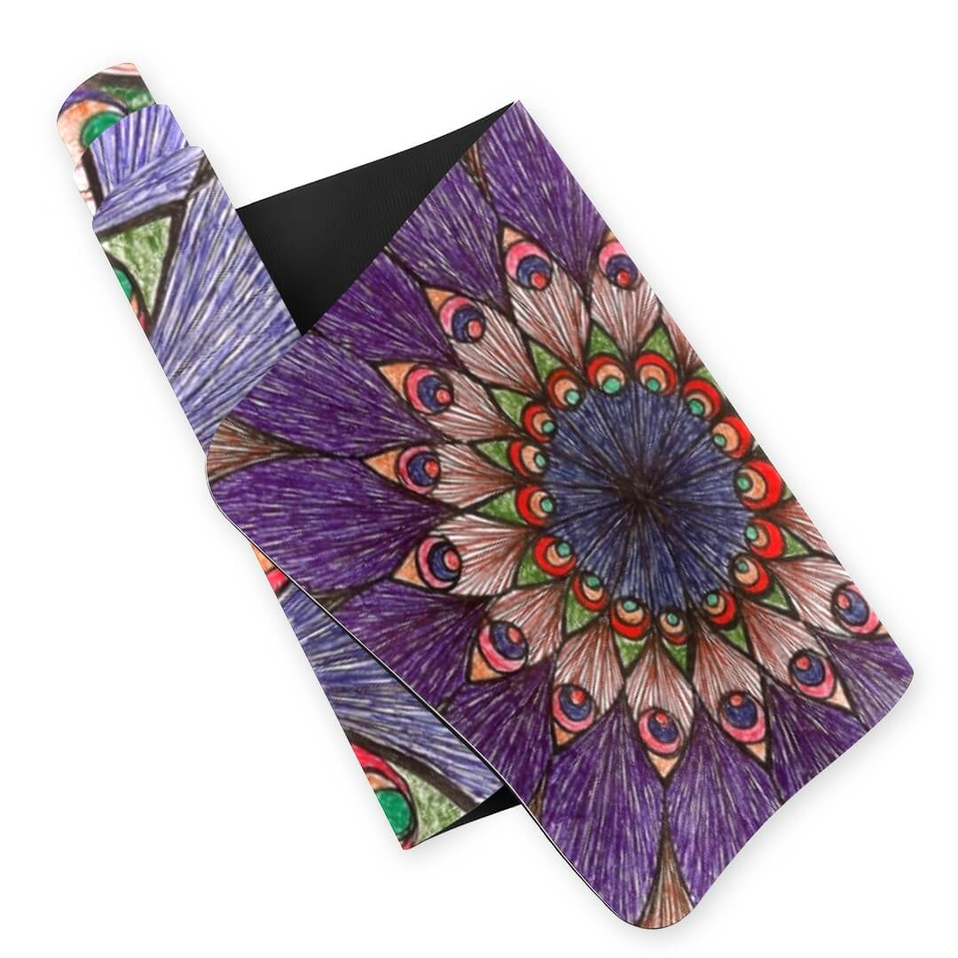 Lorvies Peacock Color Mandala Yoga Mat Eco Friendly