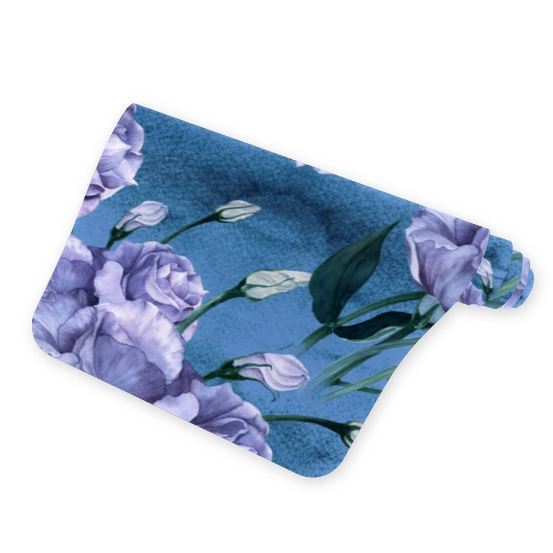Spring Purple Rose Blue Yoga Mat