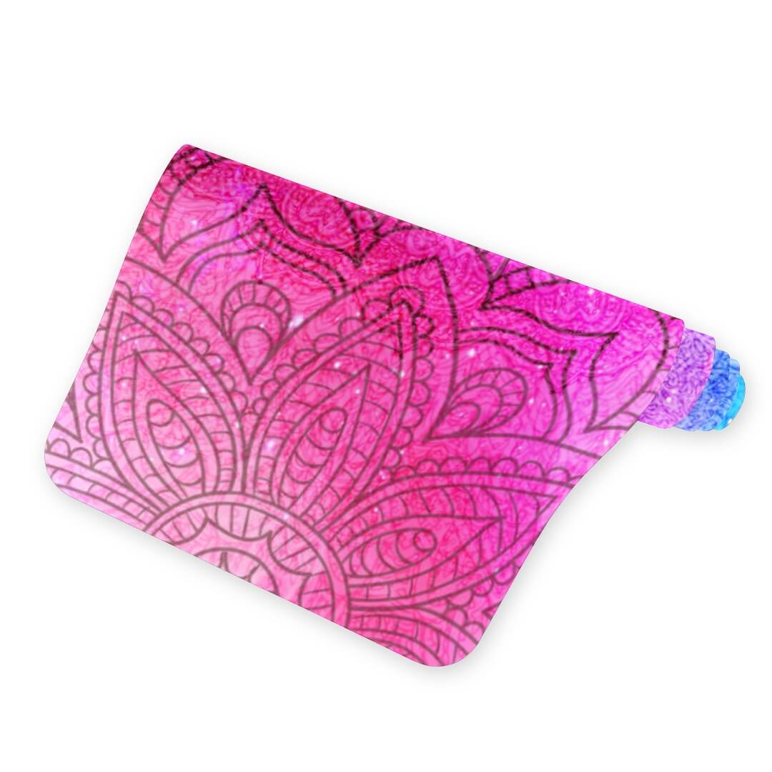 Lorvies Red And Blue Mandala Best Yoga Mat