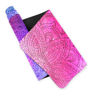 Lorvies Red And Blue Mandala Eco Yoga Mat TPE
