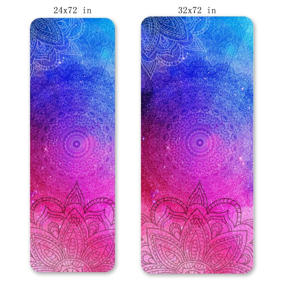 Lorvies Red And Blue Mandala Yoga Mat Exercise Gym Matt