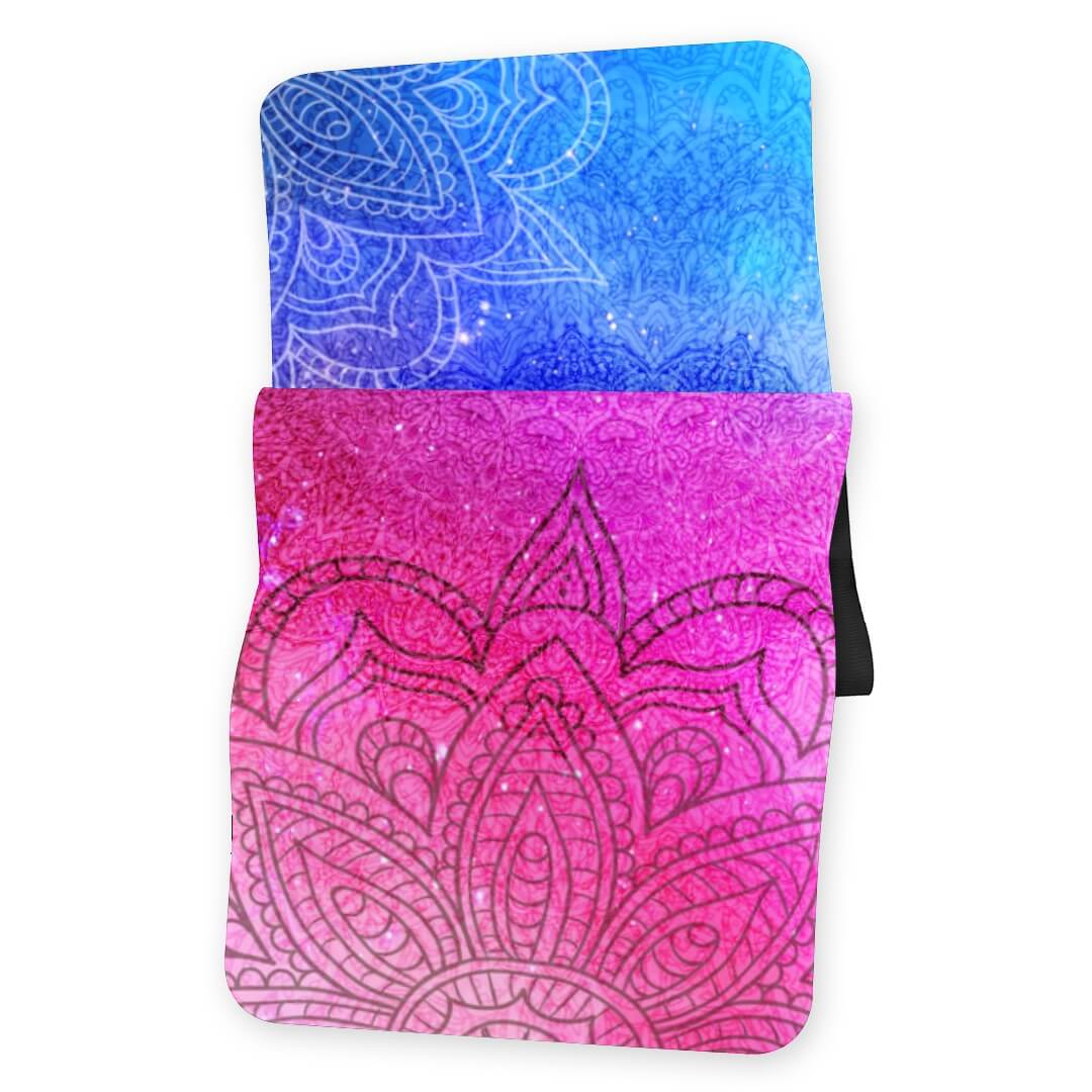 Lorvies Red And Blue Mandala Yoga Mat