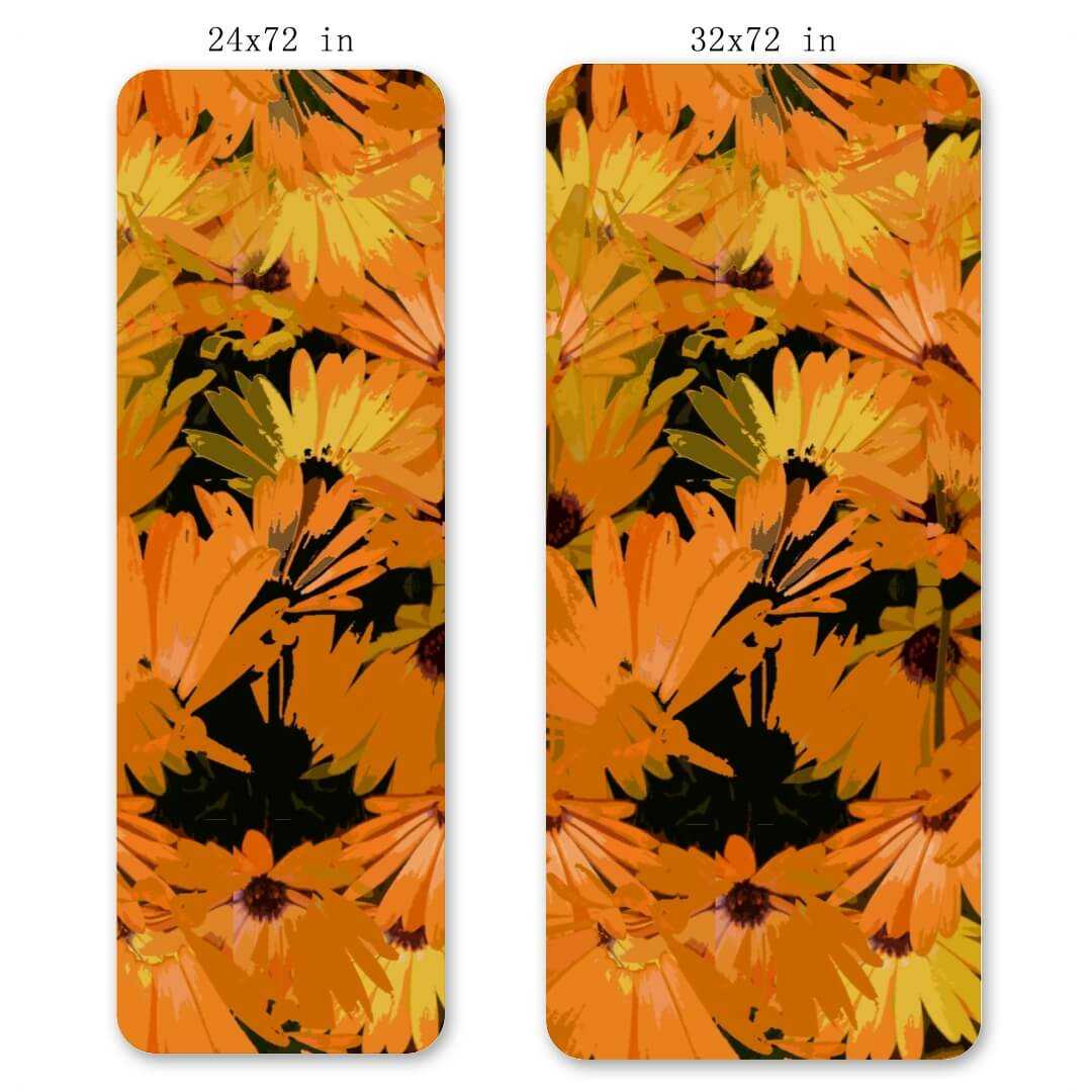 Lorvies Retro Flowers Eco Planet Yoga Mat Exercise