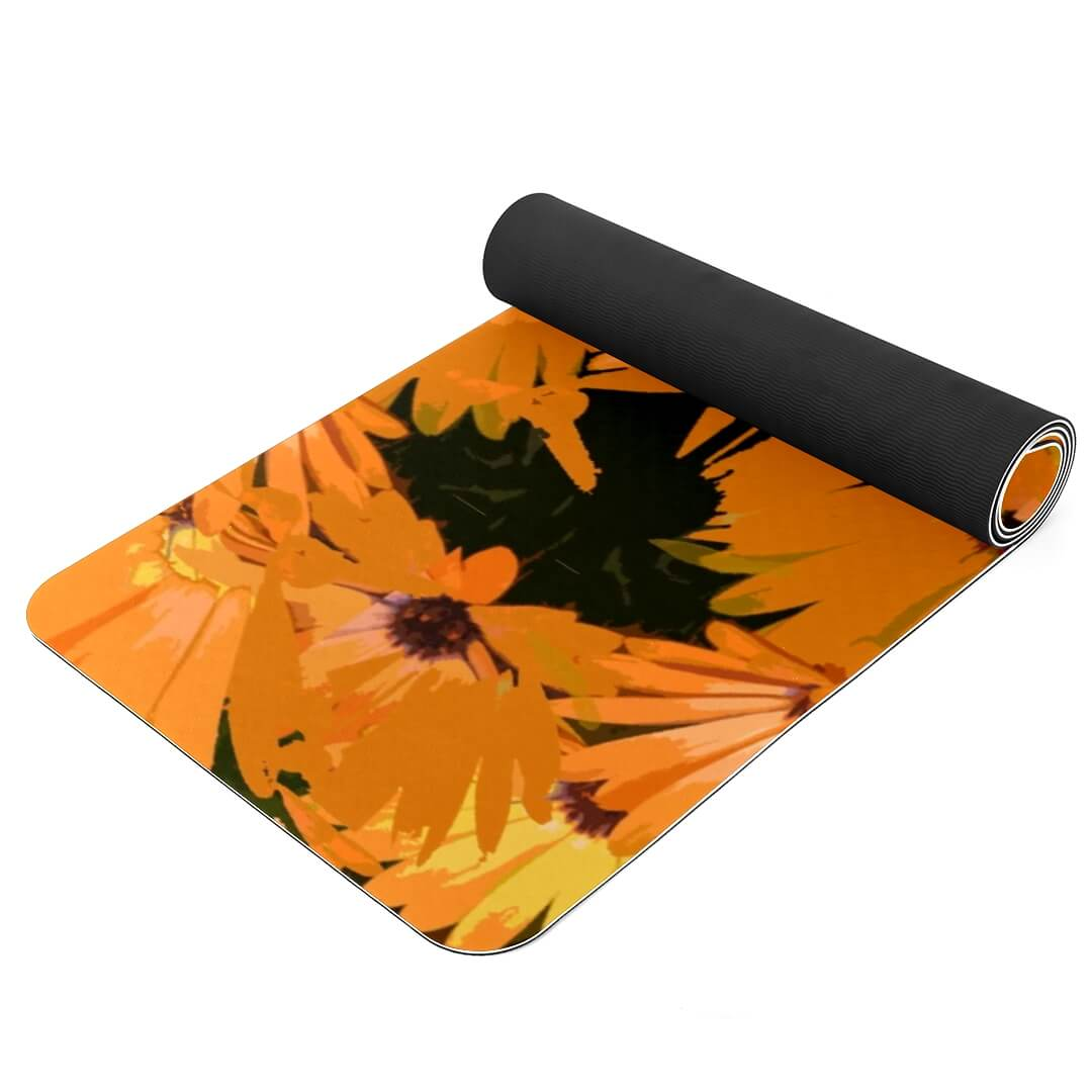 Lorvies Retro Flowers Patterned Yoga Mat Best Grip