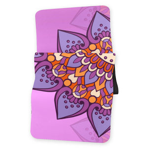 Lorvies Violet Luxury Ornamental Mandala Yoga Mat