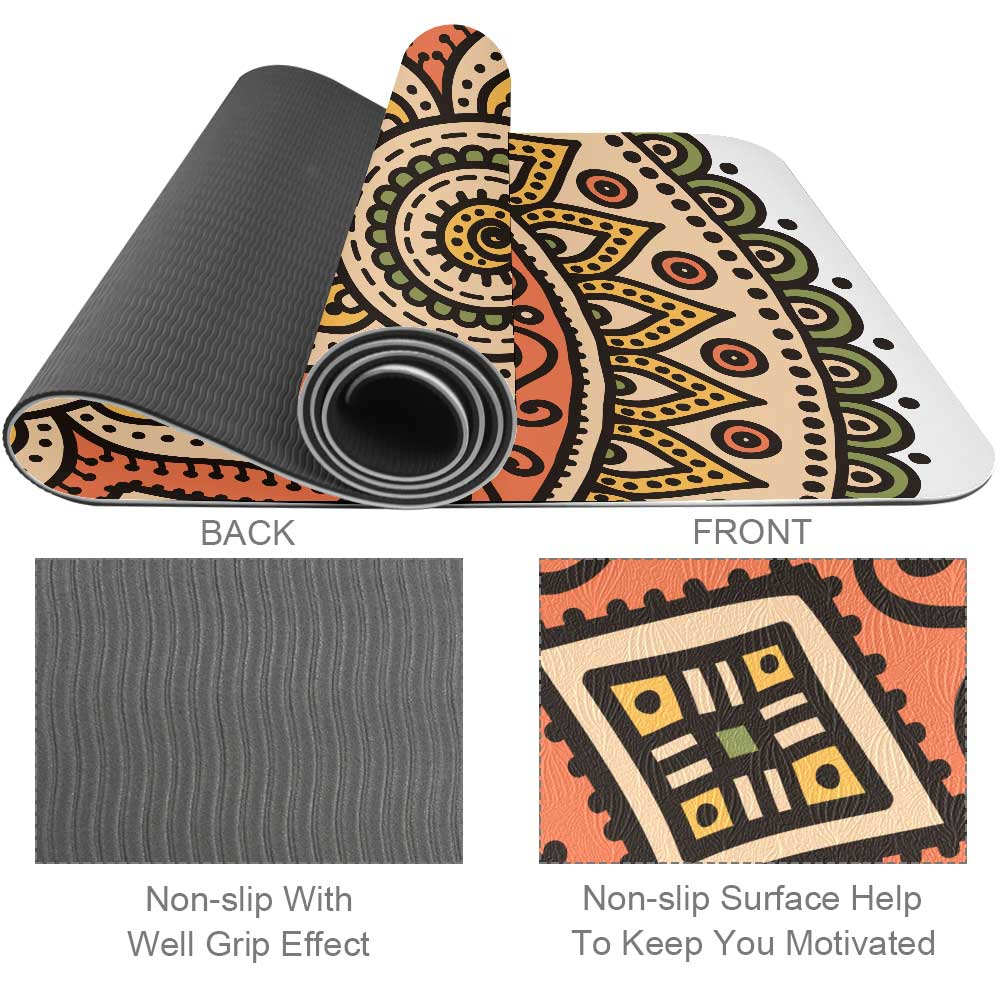 Mandala Orange Yoga Mat