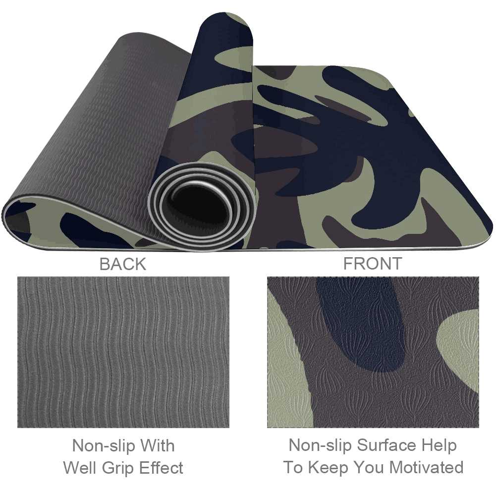 MultiCam Yoga Mat Workout Exercise Gym - Lorvies