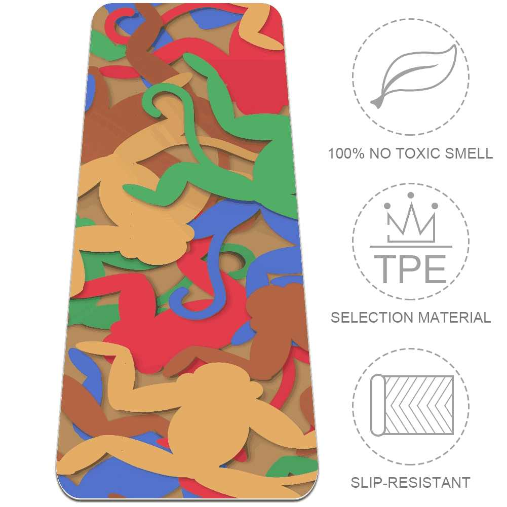 Best Multicolored Monkeys Gym Mat For Sweaty Hands Workout - Lorvies