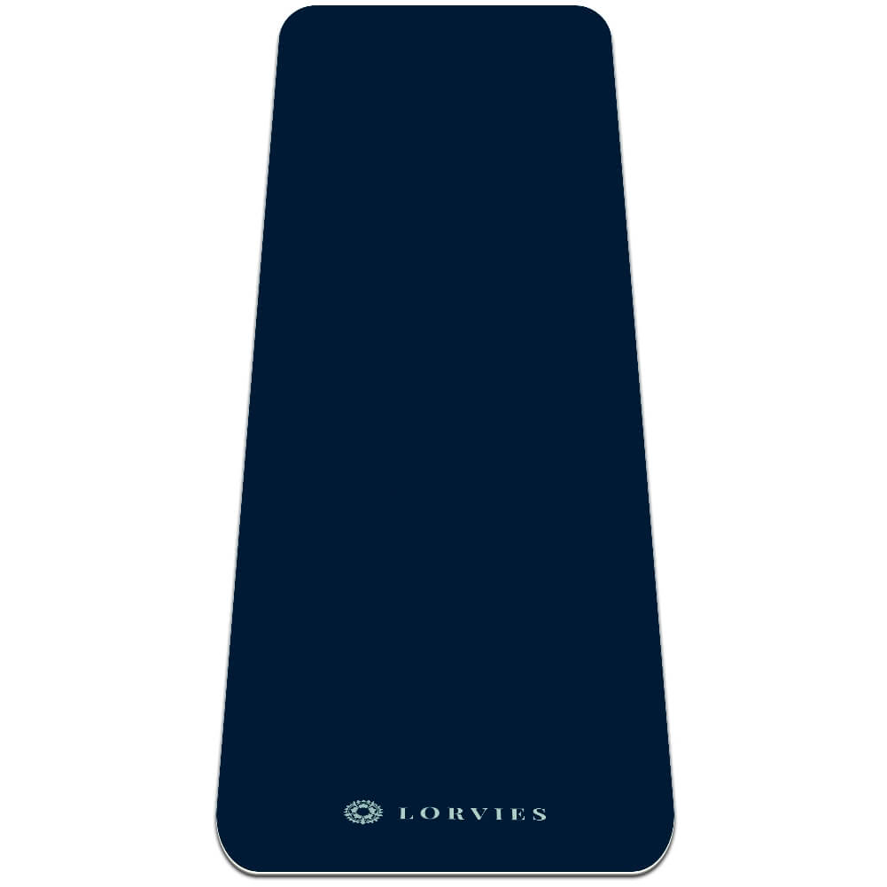 Navy Blue Yoga Mat Pilates Home Gym Flooring Non Slip TPE - Lorvies