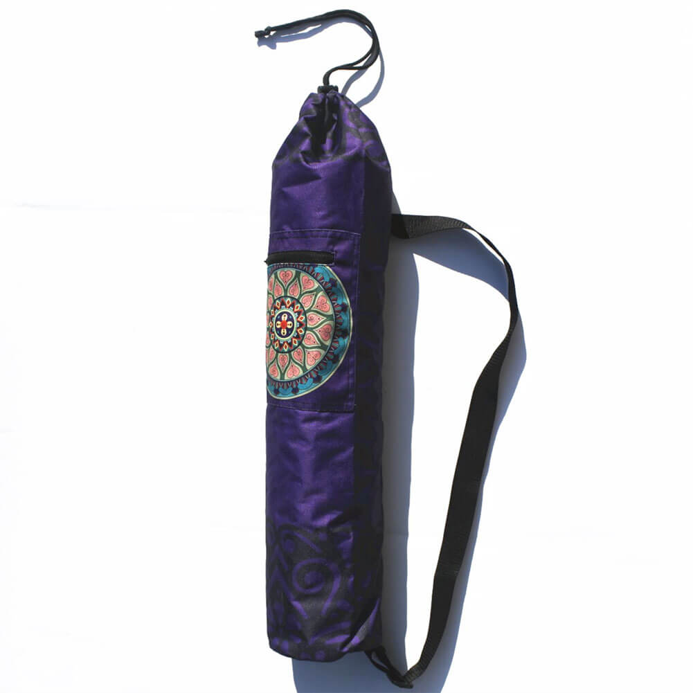 Purple Mandala Yoga Mat Bag