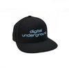 Digital Underground Black / White / Powder Blue SP Adjustable Snapback Wool Blend Hat