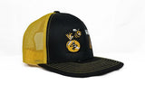 MONEY B & YOUNG HUMP BLACK / GOLD FULL COLOR EMOJI ADJUSTABLE SNAPBACK TRUCKER HAT