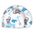 TORTLE Repositioning Beanie, Adjustable Head Support Prevents Flat Head, FDA Cleared, Neck Positioner (Lucky Elephant)
