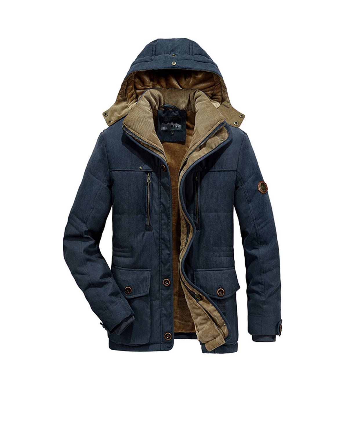 Winter Extra-thick Long Jacket with Stow-away Hood