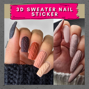 [PROMO 30% OFF] 3D Sweater Nail Sticker