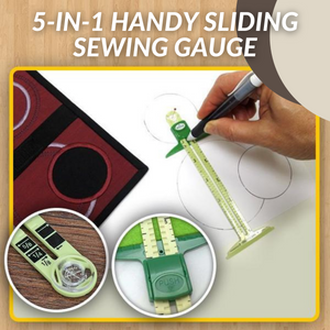 [Promo 30%] 5-In-1 Handy Sliding Sewing Gauge