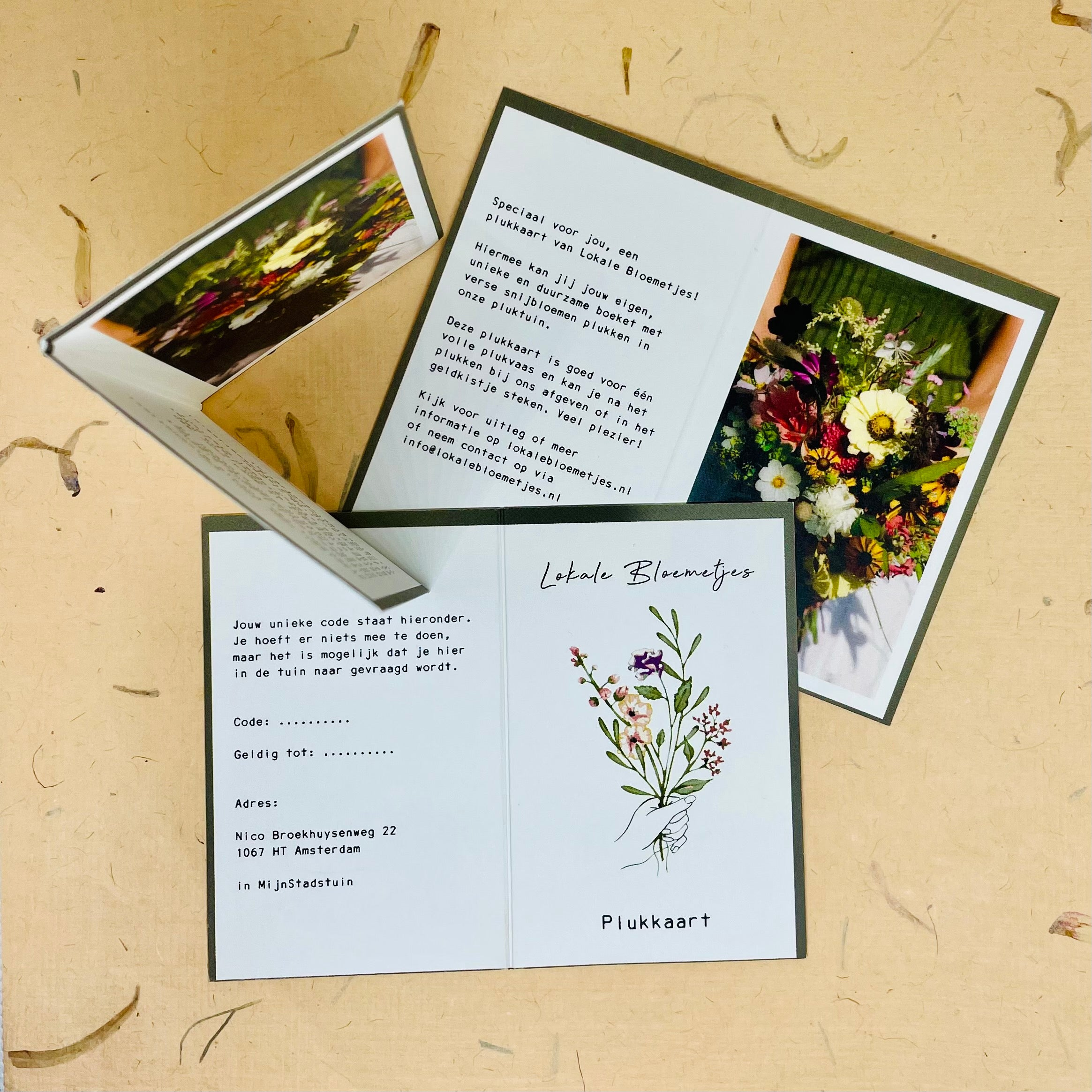 Flower picking vouchers