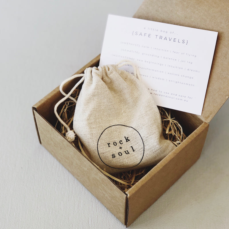 Rock + Soul Crystal Pack // Safe Travels - Simply Stems Boutique Florist Shepparton
