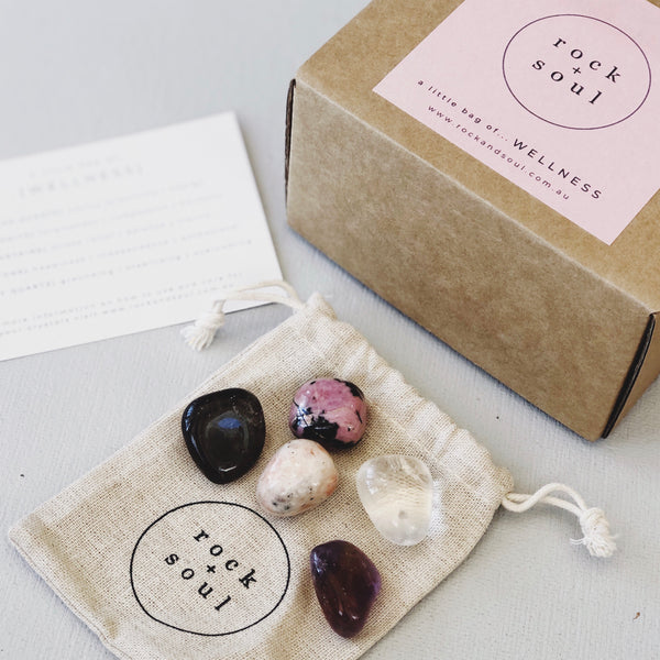 Rock + Soul Crystal Pack // Wellness - Simply Stems Boutique Florist Shepparton