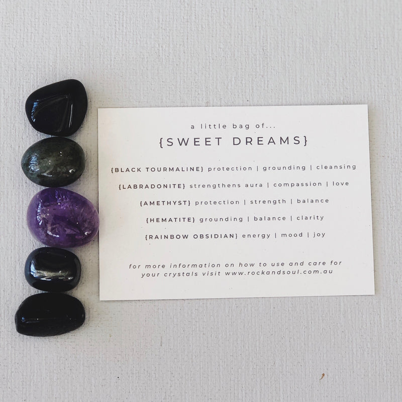 Rock + Soul Crystal Pack // Sweet Dreams - Simply Stems Boutique Florist Shepparton