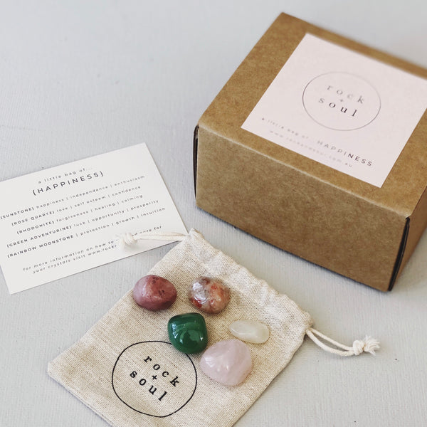 Rock + Soul Crystal Pack // Happiness - Simply Stems Boutique Florist Shepparton