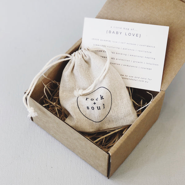 Rock + Soul Crystal Pack // Baby Love - Simply Stems Boutique Florist Shepparton
