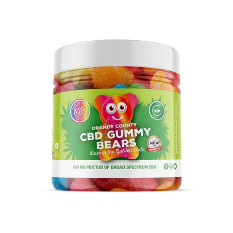 Orange County 400mg CBD Gummy Bears - Small Pack